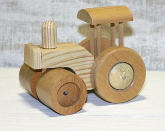 Wooden Toy Road Roller Toy Asphalt Milling Machine Toy For Boy Gift