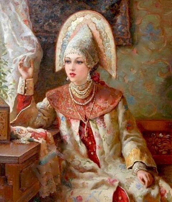 Русские красавицы художника Владислава Нагорнова: 3 тыс изображений найдено в Яндекс.Картинках