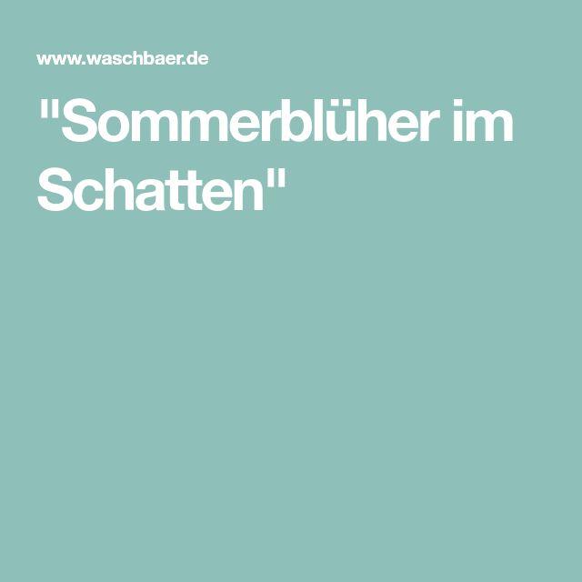 """""""Sommerblüher im Schatten"""""""