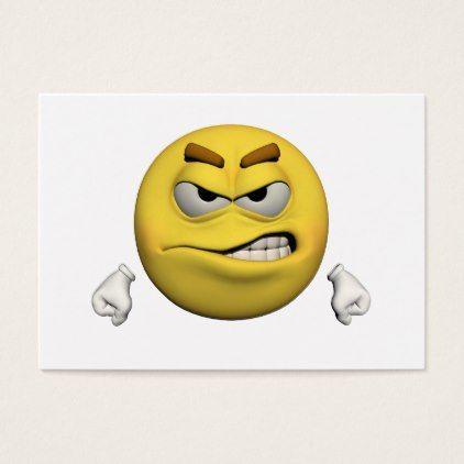 #Angry emoticon business card - #emoji #emojis #smiley #smilies