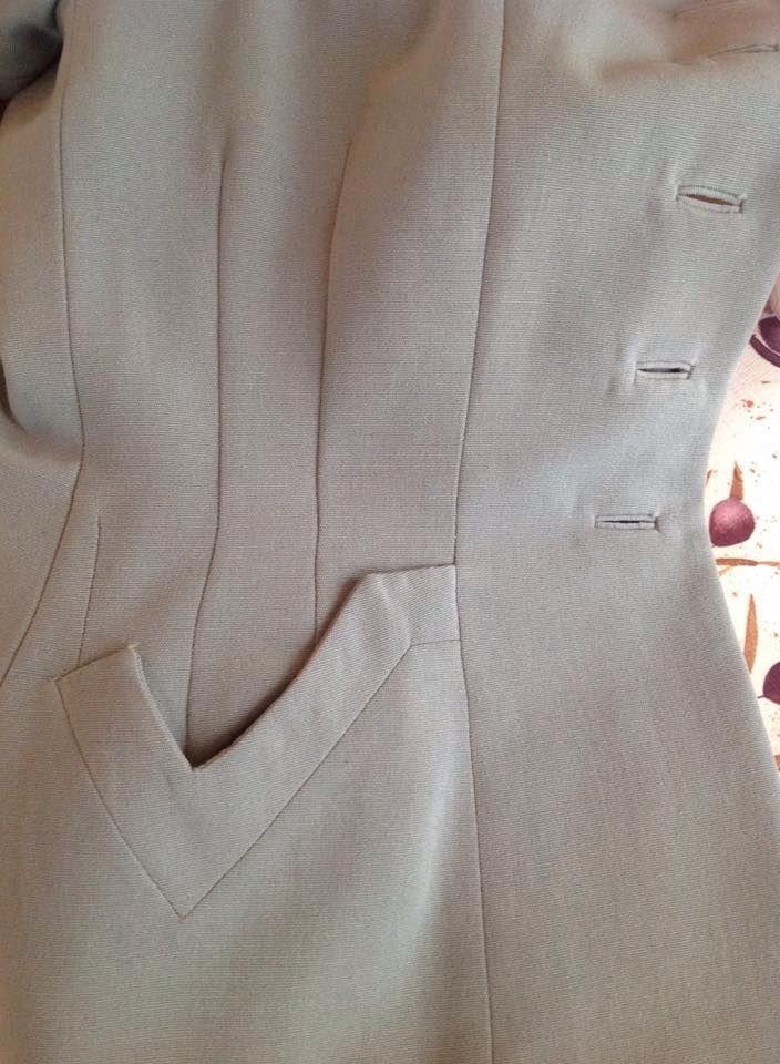 1940's suit pocket detail.