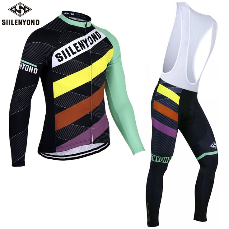 44.99$  Watch here  - Siilenyond 2017 Thermal Fleece Cycling Jersey Set Winter Bike Wear Maillot Ropa Ciclismo Invierno Hombre MTB Bicycle Clothing