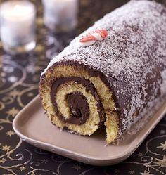 Photo de la recette : Bûche chocolat noir coco