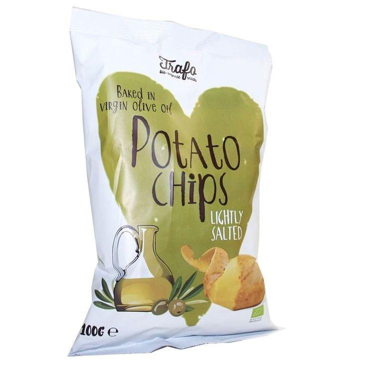 3/5 Trafo | Virgin Olive Oil Baked Crisps | 100g: inköpt goodstore. helt okej, men tyvärr menlös i jämförelse med övriga olivchips, mer sälta behövs!