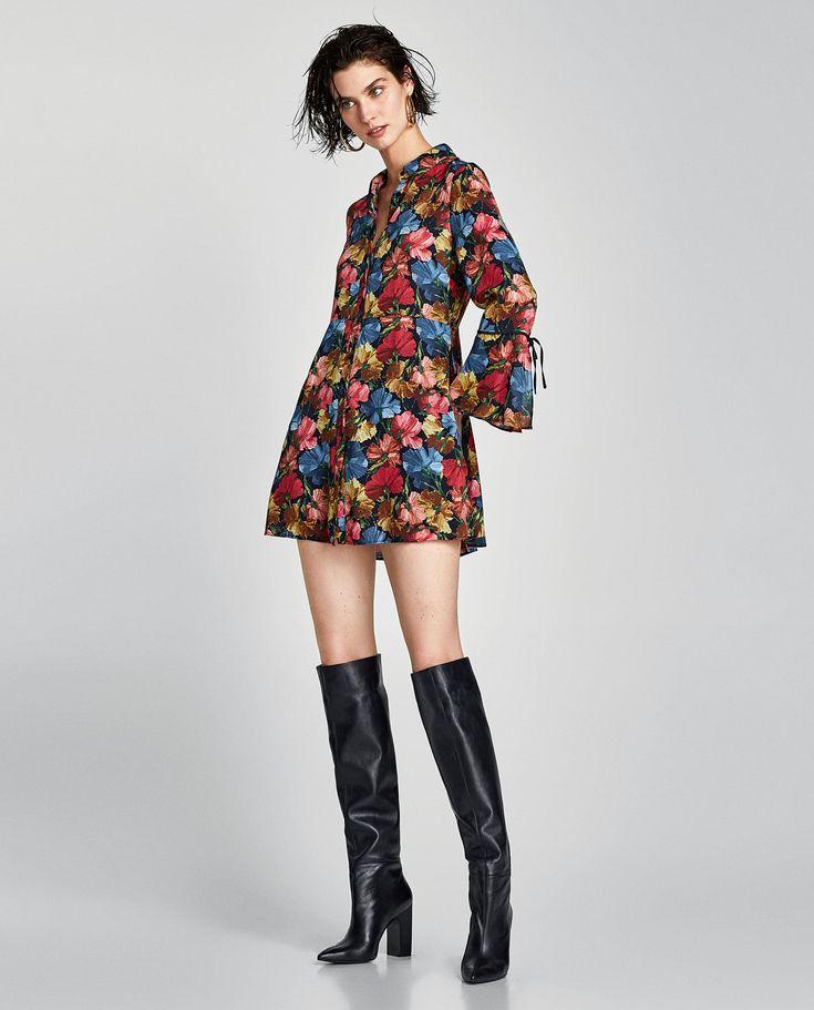 ZARA - WOMAN - FLORAL PRINT JUMPSUIT DRESS