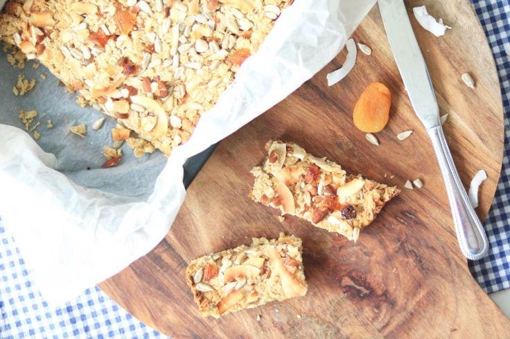 Granolarepen met abrikoos en kokos