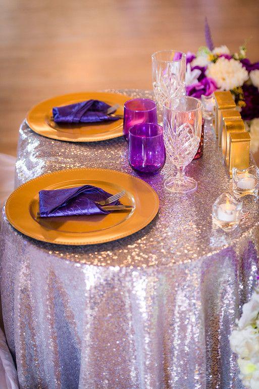 Purple Gold Silver Sweetheart Table In The Beautiful Magnolia