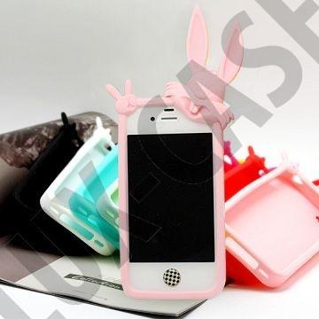 iPhone 4 vaaleanpunaiset pupu suojakuoret!