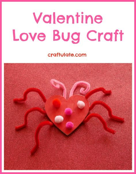 Valentine Love Bug Craft from Craftulate