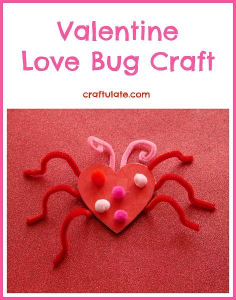 Valentine Love Bug Craft from Craftulate