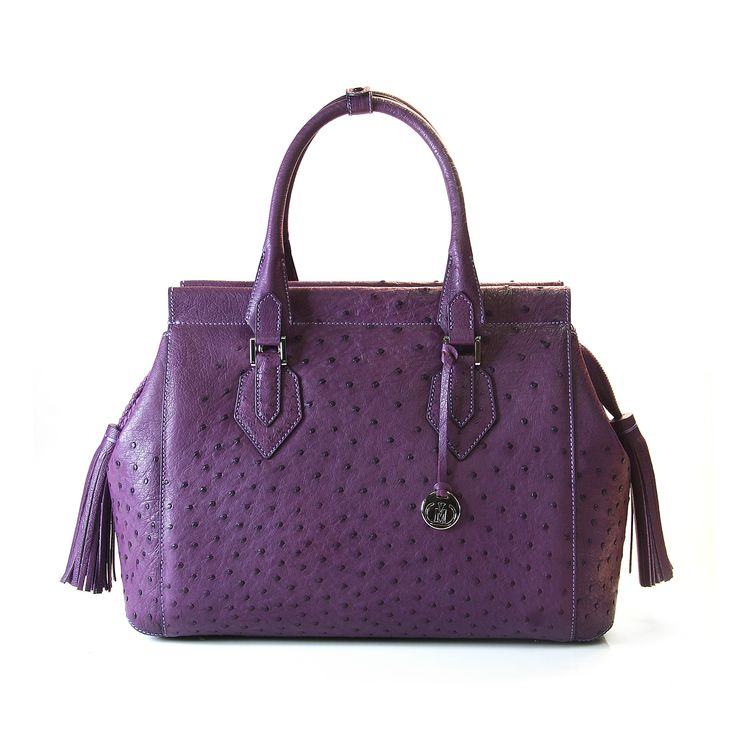 ostrich leather handbag from Via La Moda - the 1691 collection
