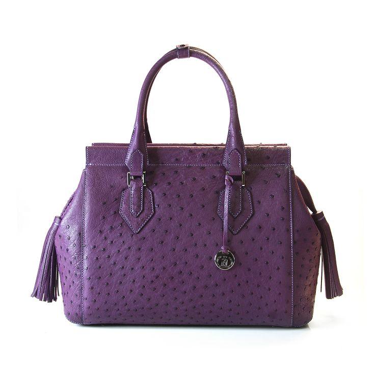 ostrich leather handbag from Via La Moda - the 1691 collection