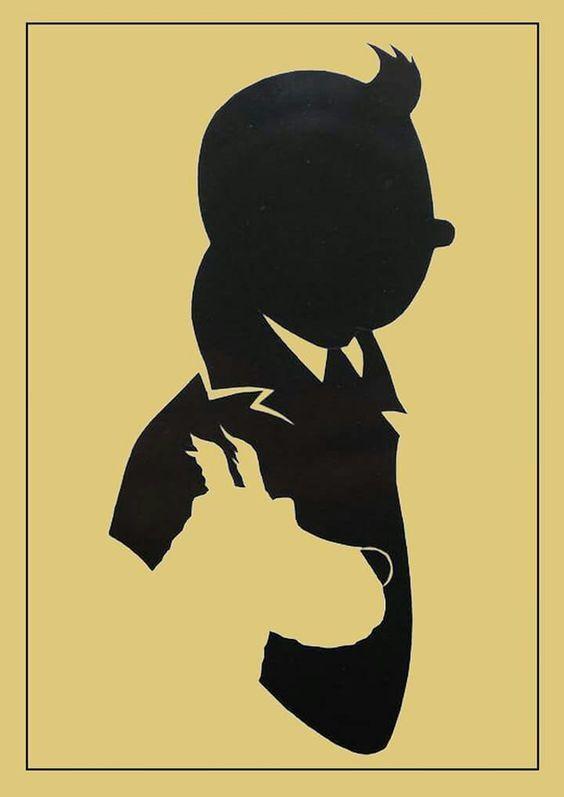 Tintin & Snowy - silhouette