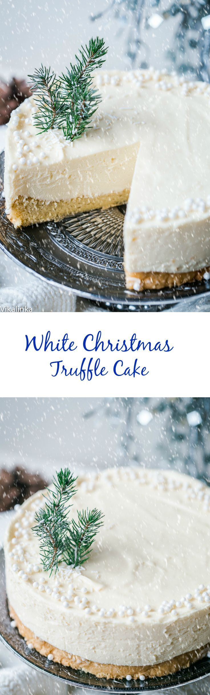 White Chocolate Truffle Cake that will become the talk of the table at any dinner party! More #christmasparties