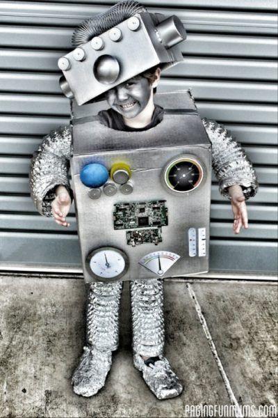 Disfraz de robot infantil para Carnavales   Fiestas y Cumples