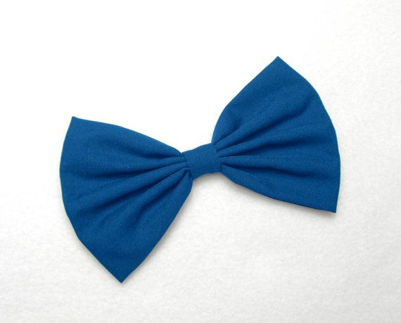 Royal Blue Hair Bow Clip hair accessories for women by JuicyBows