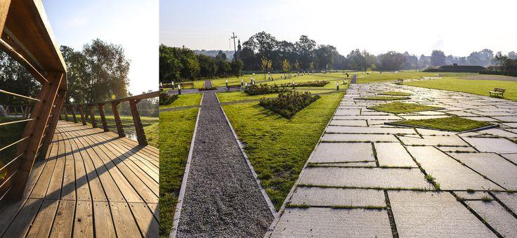 #Architektura w #KazimierzBiskupi - #park. #Plac przy którym stanie budynek. // #Architecture in Kaziemierz Biskupi, #Poland - #park. The #square where the #building will be built