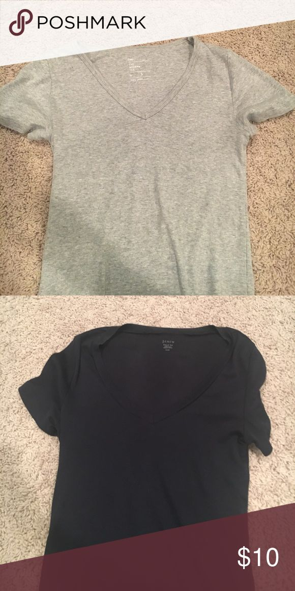 JCREW GAP tshirts! 2 size small tshirts come together... worn once one black and one grey!! great deal!!! J. Crew Tops Tees - Short Sleeve
