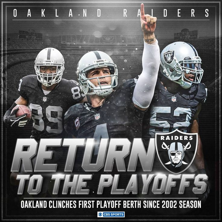 The Oakland Raiders are heading back to the playoffs!