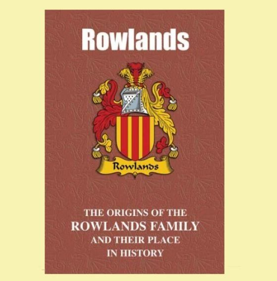 Rowlands Coat Of Arms History Welsh Family Name Origins Mini Book