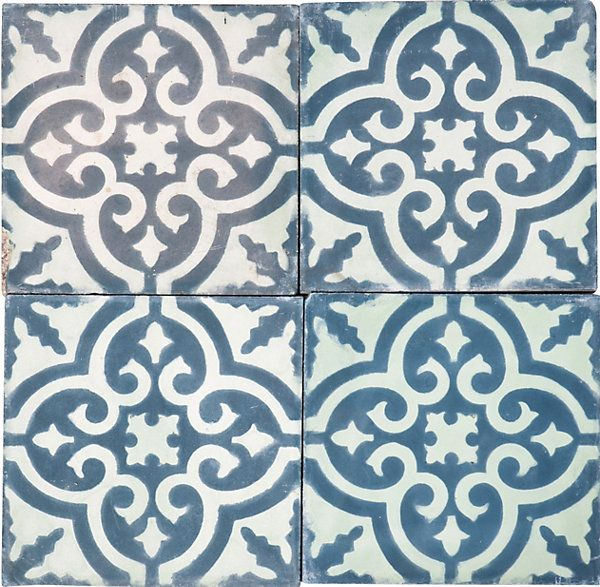 Moroccan tile bathroom floor