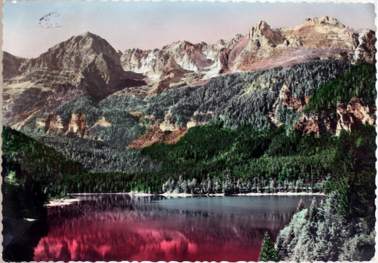 """Lago di Tovel is a lake in Trentino, Italy. It was also called """"Red Lake"""", because of the color of the water, probabily due to a red algae diffused around '60."""