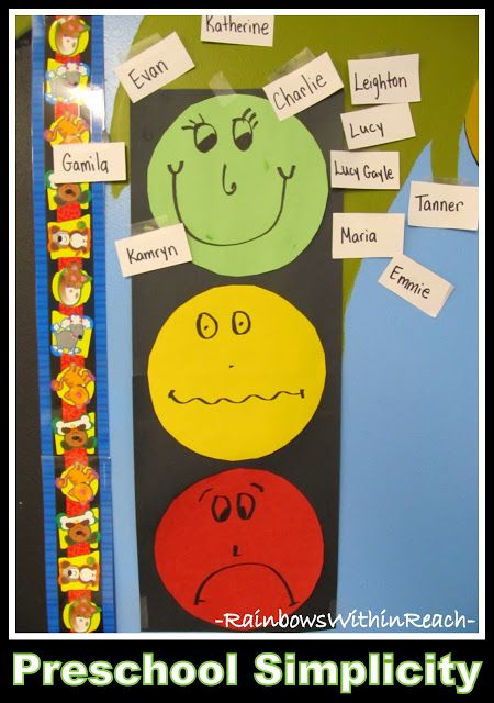 photo of: DIY Behavior Chart Using Stop Light Theme (Behavior Chart RoundUP via RainbowsWithinReach)