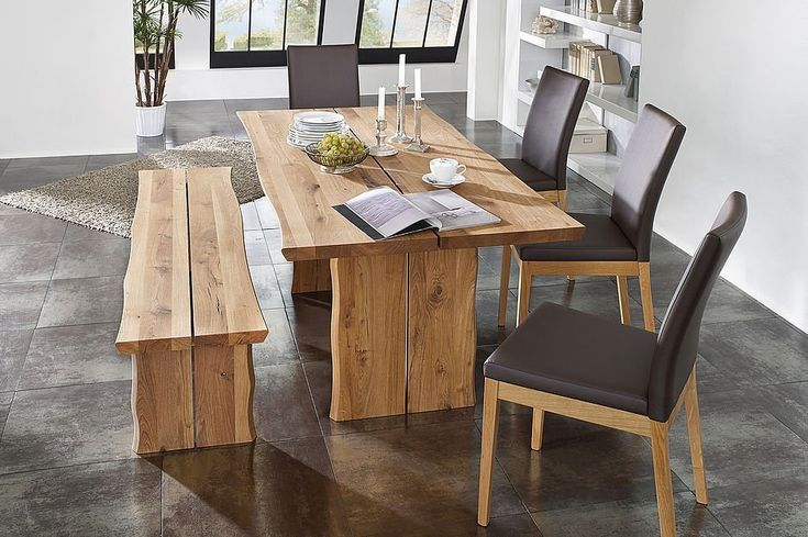 #Schösswender #Tischgruppe #Tisch #Bank #Stühle #Wildeiche #massiv - Möbel Mit www.moebelmit.de
