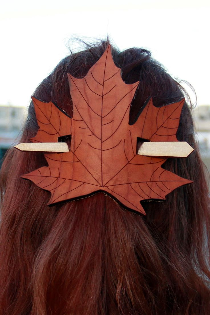 Fall Statement Making Accessory Done Right. Slip A Leaf Barrette Into Your  Hair