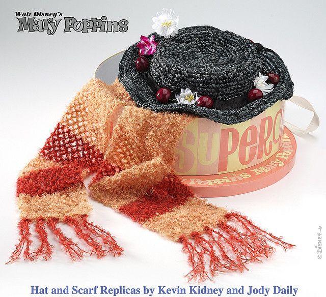 Mary Poppins Hat & Scarf Replicas by Miehana, via Flickr
