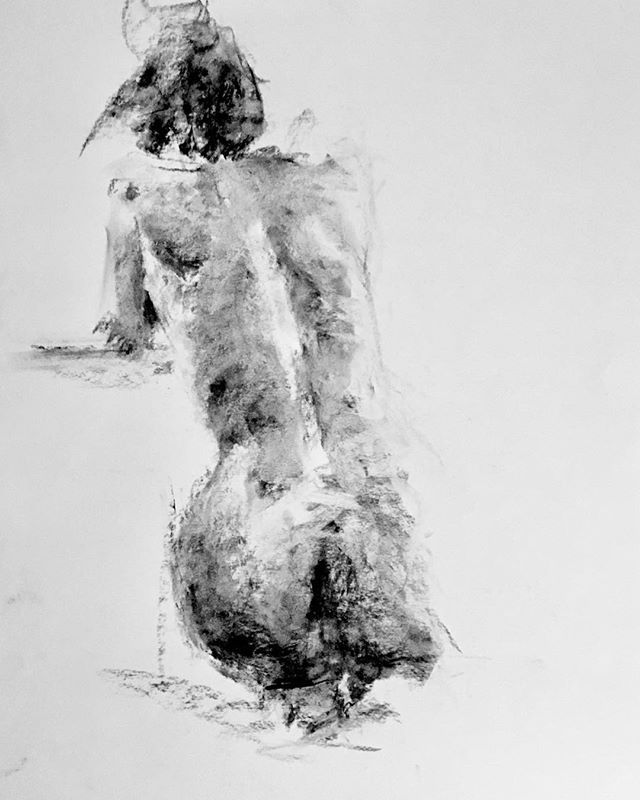 One of my drawings from the Tavistock life drawing session
