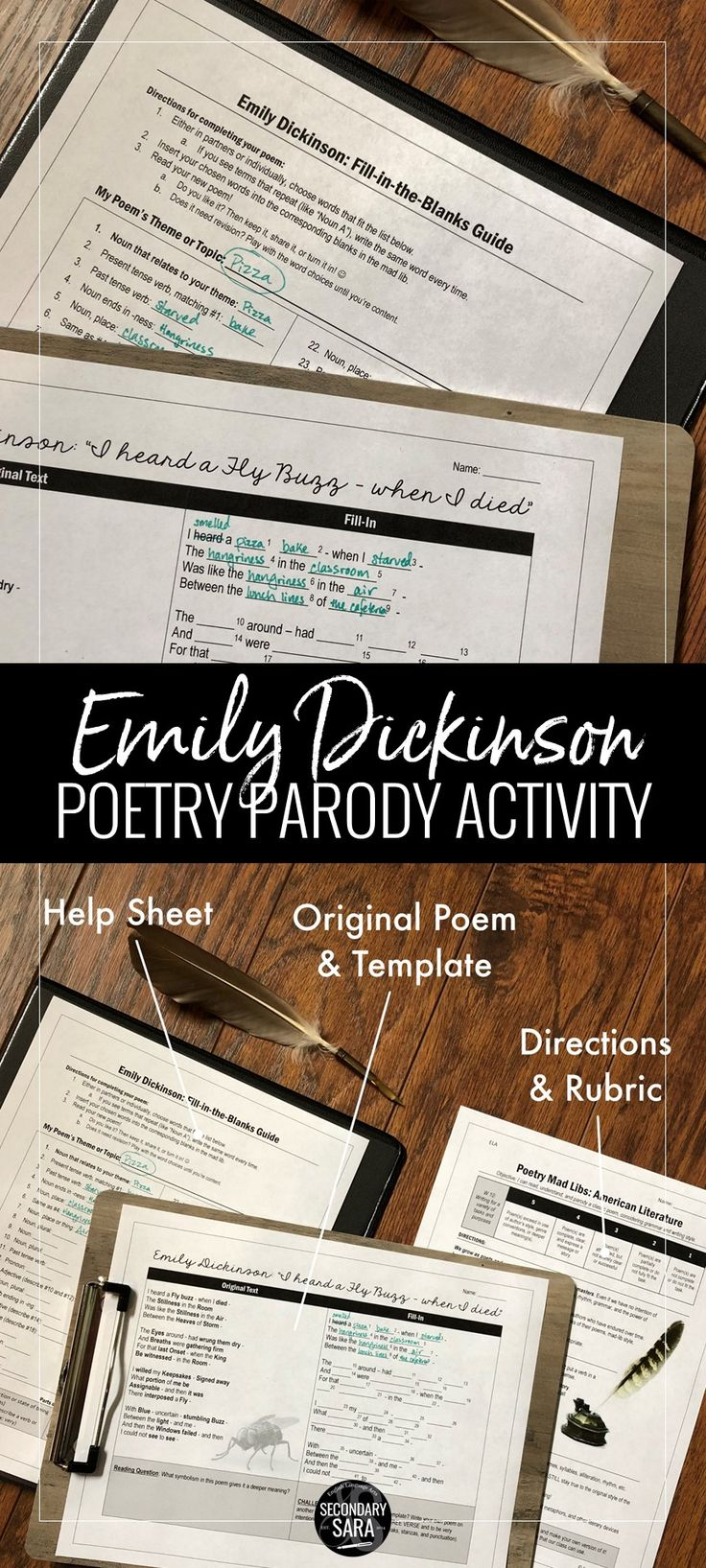 Emily Dickinson Poetry Parody I Heard a