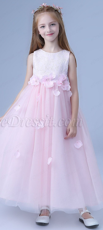 9d1cbd50a Lovely Bowknot Long Wedding Flower Girl Dress (27202801) | All ...
