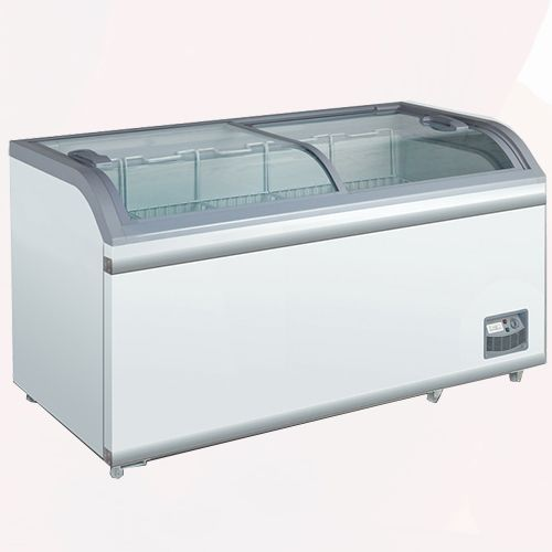 Sliding Curved Chest Display | Chillers Rental | Rent4Expo.eu