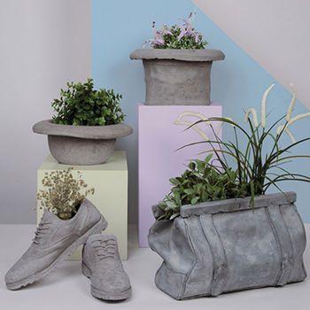 Concrete Bag Plant Holder
