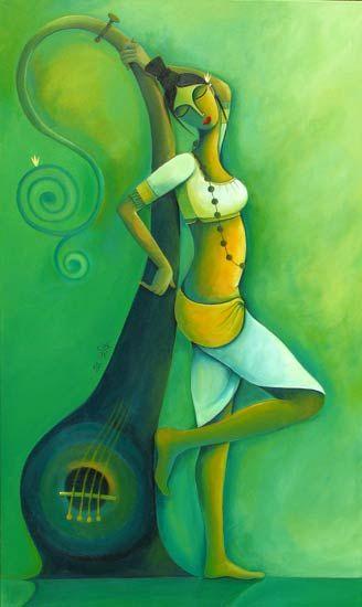 Juily Gite | Paintings by Juily Gite | Juily Gite Painting - SuchitrraArts.com
