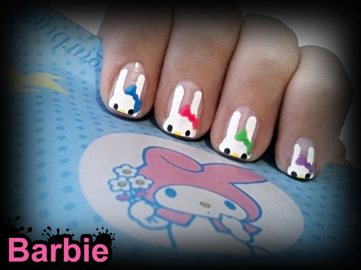 my melody nails a cute little girl rabbit character created by sanrio - Little Girl Nail Design Ideas