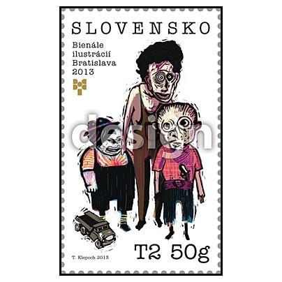 Pravidelné Bienále ilustrácií v Bratislave 2013 si pripomenie poštová známka  s týmto motívom.