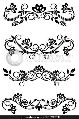 Vintage Frame Clip Art | Vintage frames stock vector clipart, Antique vintage frames isolated ...