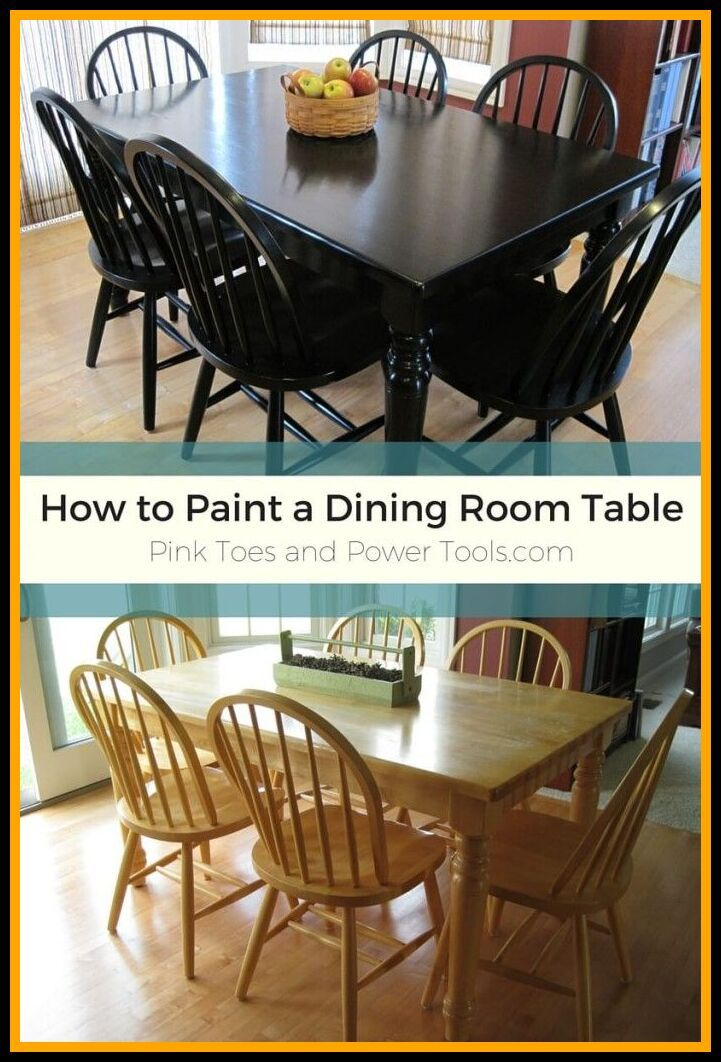 99 Reference Of Painted Wooden Dining Table And Chairs In 2020 Black Dining Room Table Kitchen Table Redo Black Kitchen Table