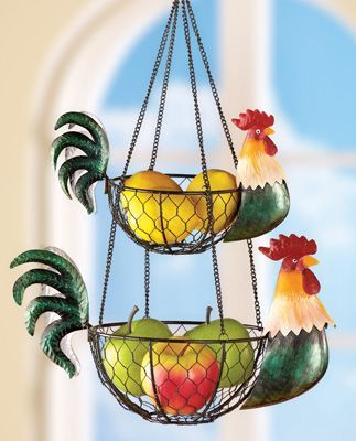 rooster kitchen hanging wire baskets decorating the house in 2019 rh pinterest com