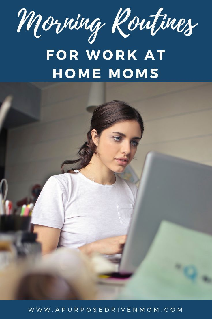 work at home mom morning routine mom s run the world group board rh pinterest com