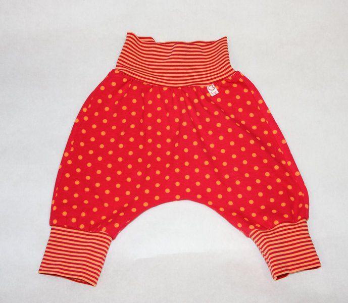 Kleinkind Haremshose/Pumphose orange/rot Gr.98  von byGretchen auf DaWanda.com