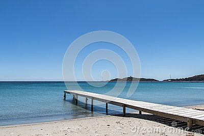 pinarellu beach in corsica corse france