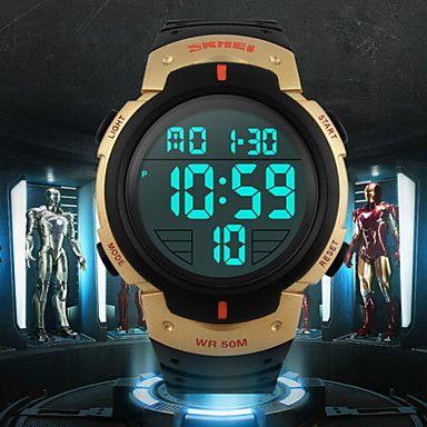 SKMEI®+Men's+LCD+Digital+Sport+Watch+Fashion+Sporty+Stopwatch+Cool+Watch+Unique+Watch+–+USD+$+11.99