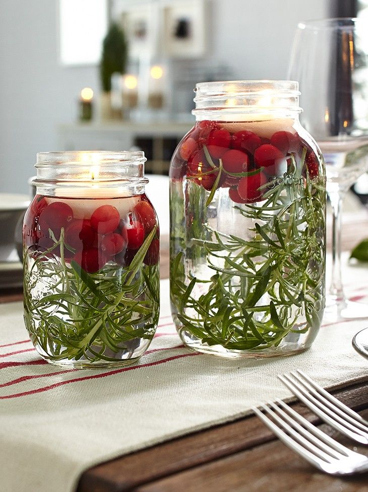 DIY votives with rosemary and cranberries, by Vanessa Sicotte from Damask et Dentelle. MyCANVAS