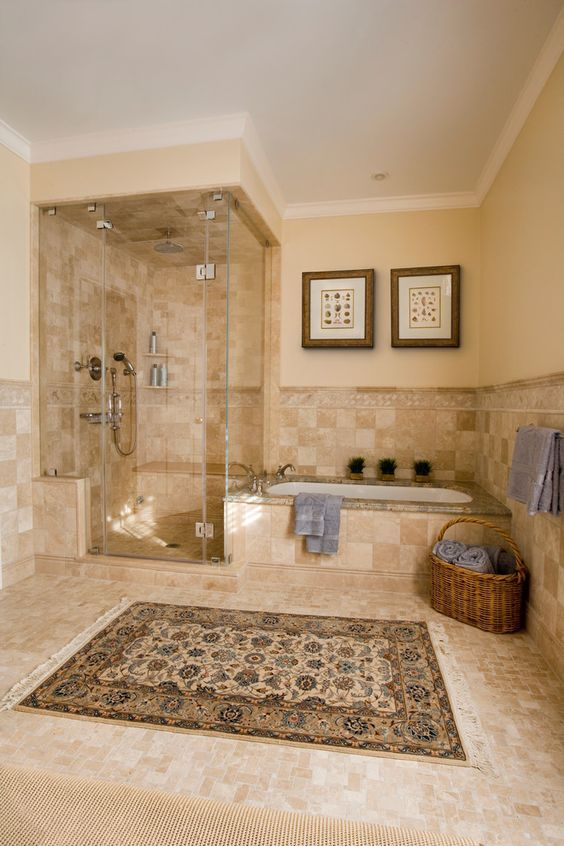 Impressive Wall Candle Sconces In Bathroom Traditional With Thermasol Steam Shower Next To Separate And