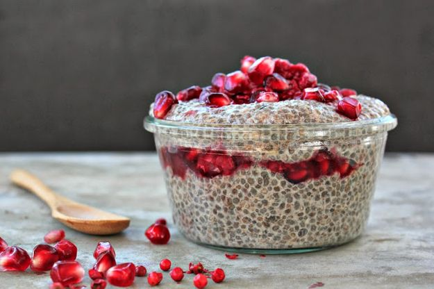 Chai Spiced Chia Pudding with Pomegranate Sauce   31 Healthy And Delicious Ways To Cook With Chia Seeds