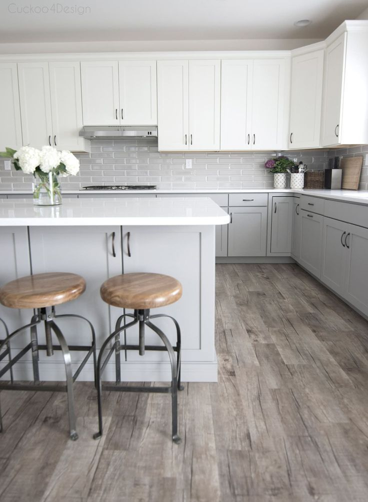 My Friends Gorgeous Gray And White Kitchen Cuckoo4design Light Grey Kitchen Cabinets Light Grey Kitchens Rustic Kitchen Cabinets
