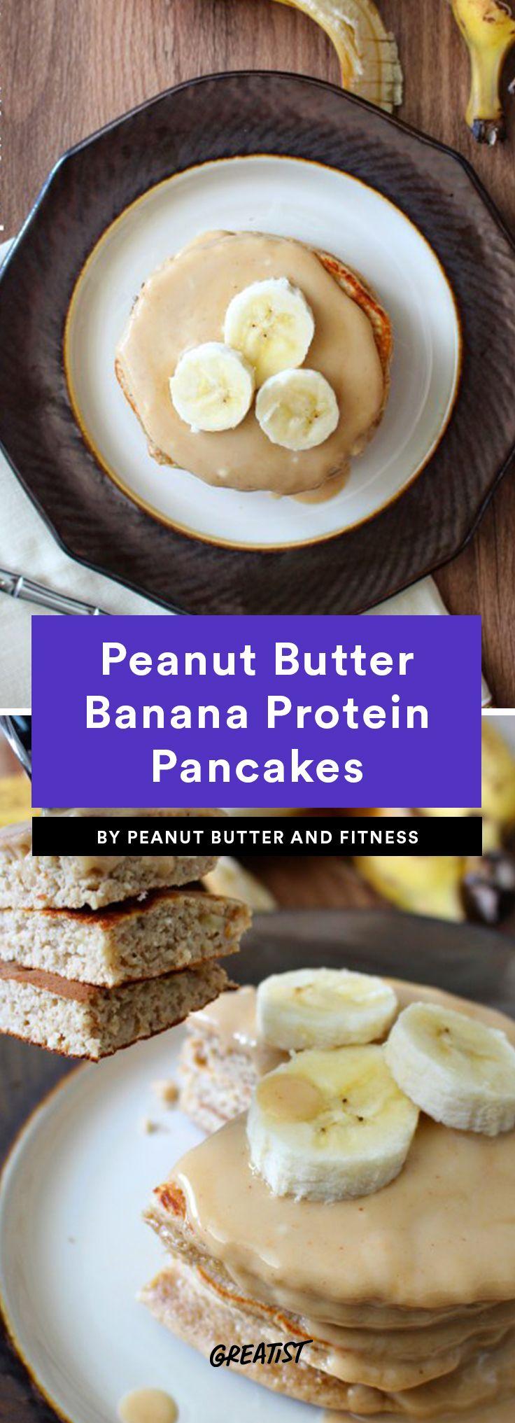 8. Peanut Butter Banana Protein Pancakes #healthy #pancake #recipes https://greatist.com/eat/protein-pancake-recipes